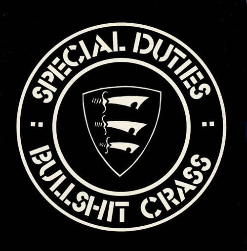 Portada del single de Special Duties  Bullshit Crass