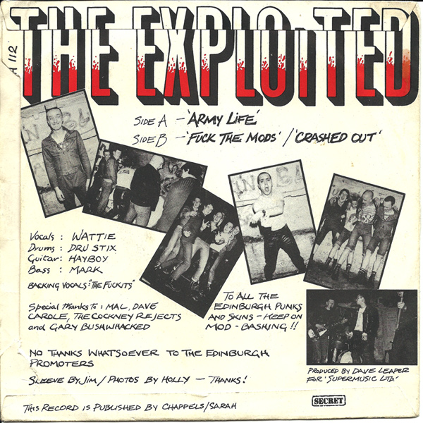 The Exploited,  Army Life  (1980)
