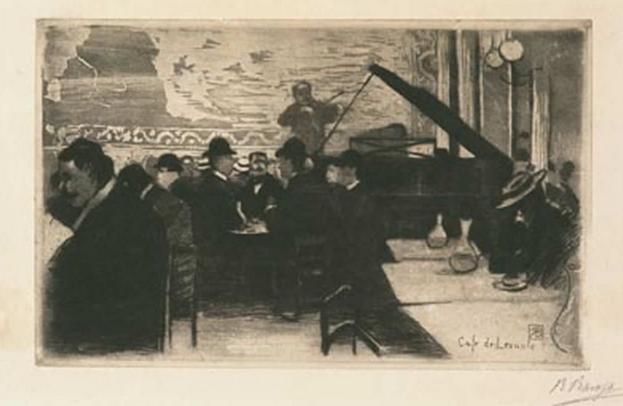 Ricardo Baroja y su dibujo del Café de Levante