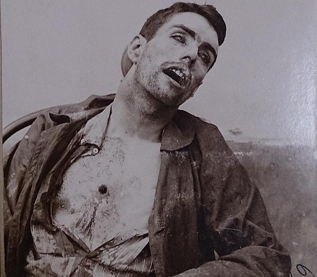Mateo Morral en el depósito de cadáveres