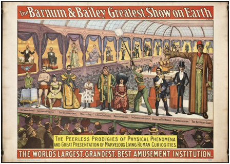 Cartel del circo de prodigios de Barnum & Bailey
