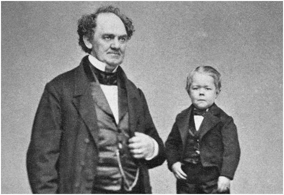 Barnum y Tom Thumb