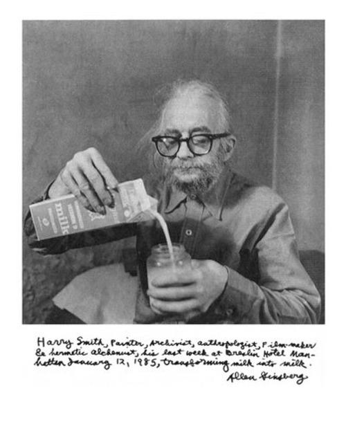 Harry Smith y unas notas sobre él de su amigo Allen Ginsberg