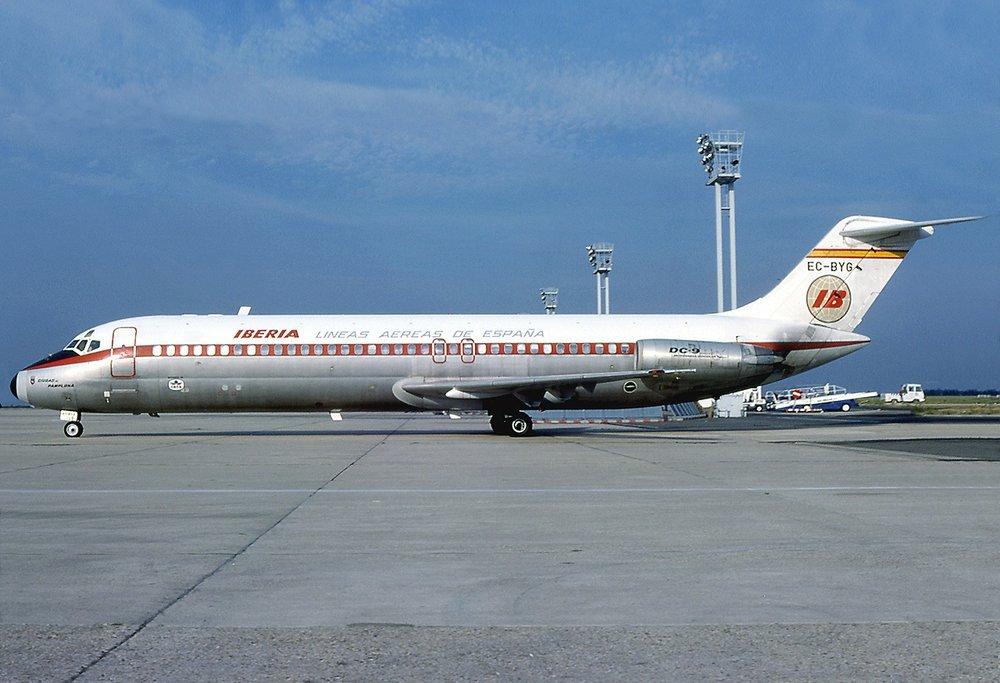 Un avión DC-9 de Iberia como el secuestrado en 1979