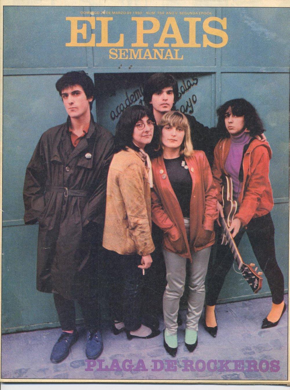 «Plaga de rockeros». Portada de  El País Semanal  (marzo de 1980)