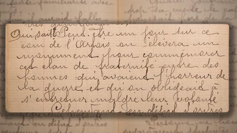 Algunas páginas de los cuadernos de Barthas
