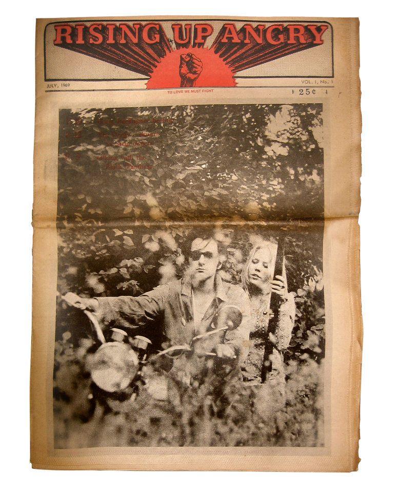 Portada del primer número de  Rising Up Angry  (julio de 1969)