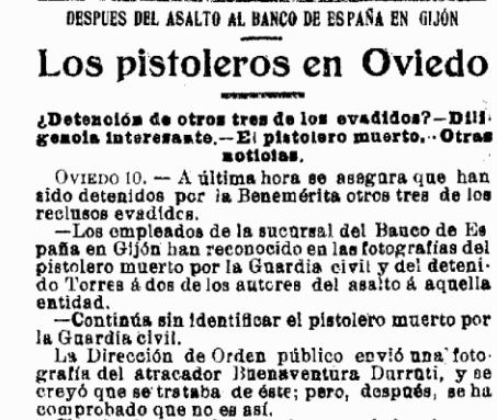 La Época desmintiendo su muerte (11 de septiembre de 1923)