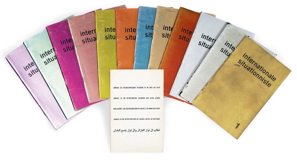 Cubiertas de los 12 números de  Internationale Situationniste