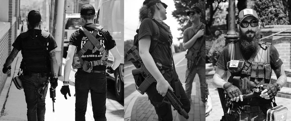 Militantes de Redneck Revolt en Charlottesville