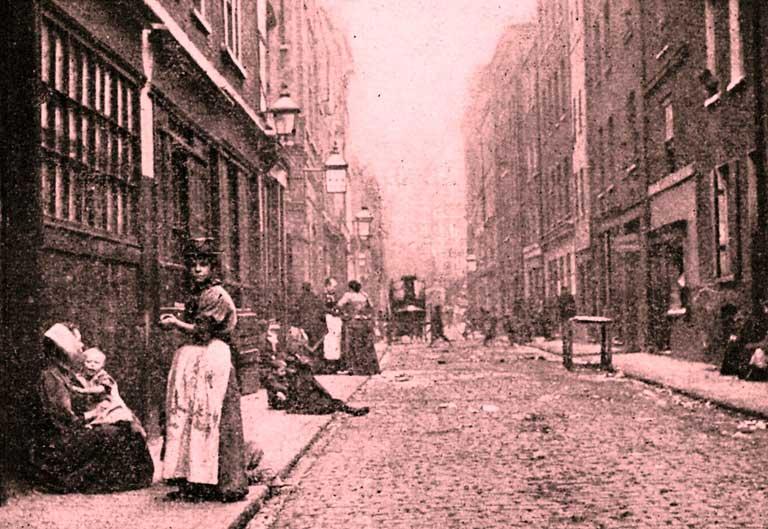 Dorset Street, en Whitechappel, en la época de los crímenes, lugar donde fue asesinada Mary Kelly a manos de Jack el Destripador