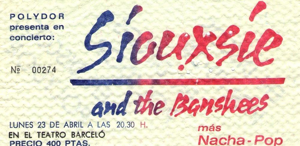 Entrada del concierto de abril de 1979