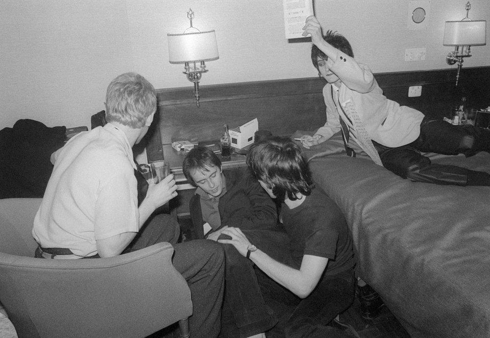 Siouxsie and the Banshees en un hotel del centro de Madrid. Fotografías: Ray Stevenson