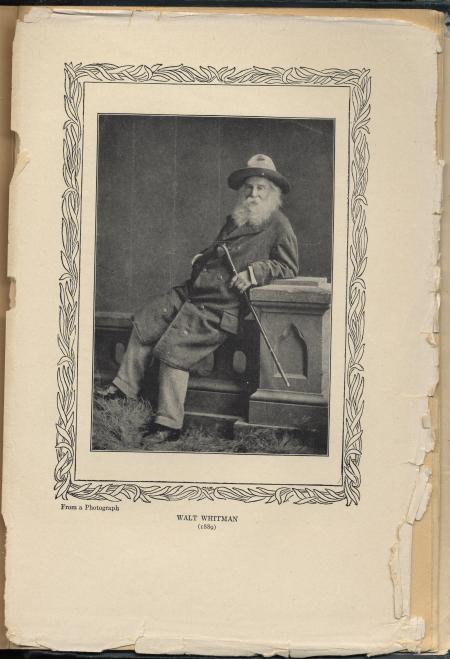 Otro retrado de Whitman, también incluido en su biografía de Horace Traubel,  With Walt Whitman in Camden  (1914)