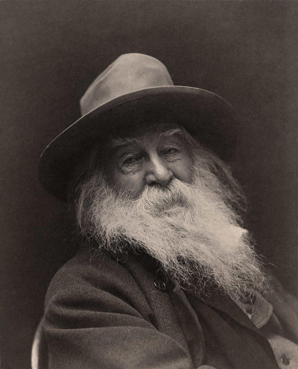 Walt Whitman fotografiado en 1887 por George C. Cox