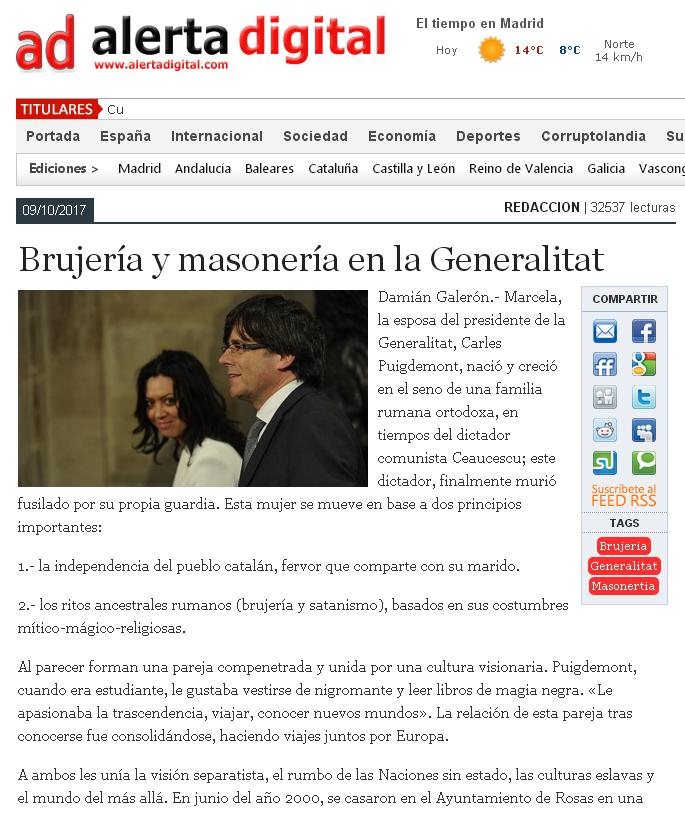 Alerta Digital ,«Brujería y masonería en la Generalitat»