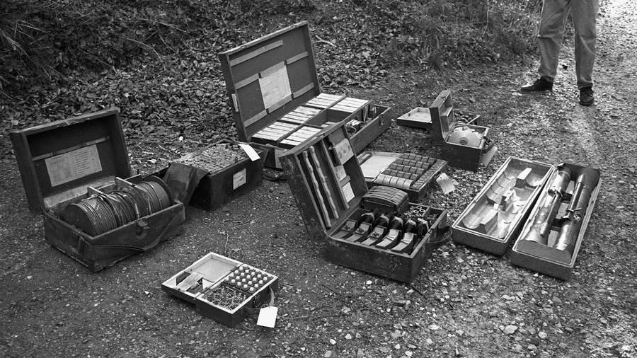 Armas y explosivos incautados al grupo. Fotografía: Lars Hansen / Polfoto