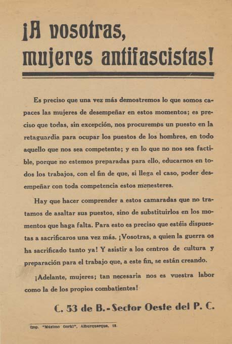 Partido Comunista de España (Sector Oeste) / Célula 53