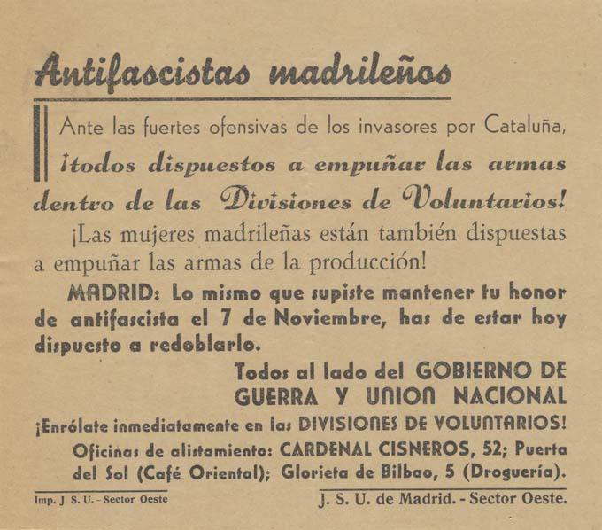 J. S. U. de Madrid (Sector Oeste)