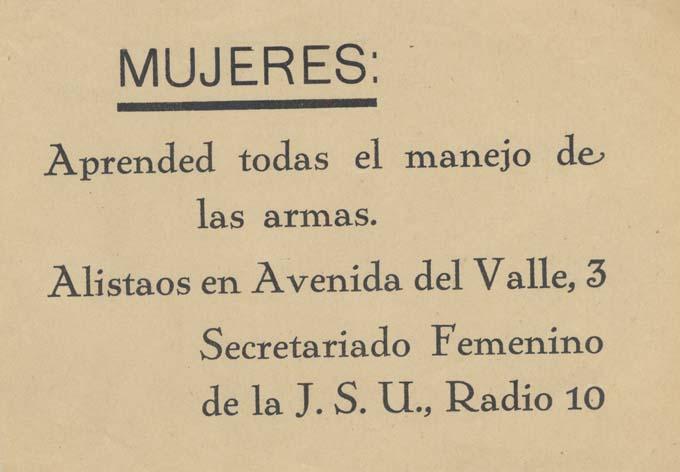Secretariado Femenino de la J. S. U. / Radio 10