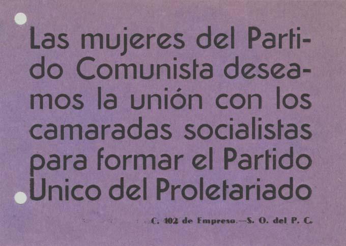 Partido Comunista de España (Sector Oeste) / Célula 102