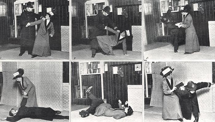 Edith Garrud, feminista y experta en jiu-jitsu. Comienzos de siglo
