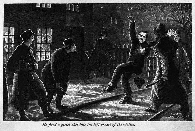 Ilustración de los Molly Maguires (1877)