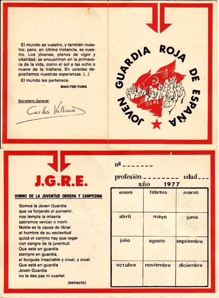 Carnet de la Joven Guardia Roja