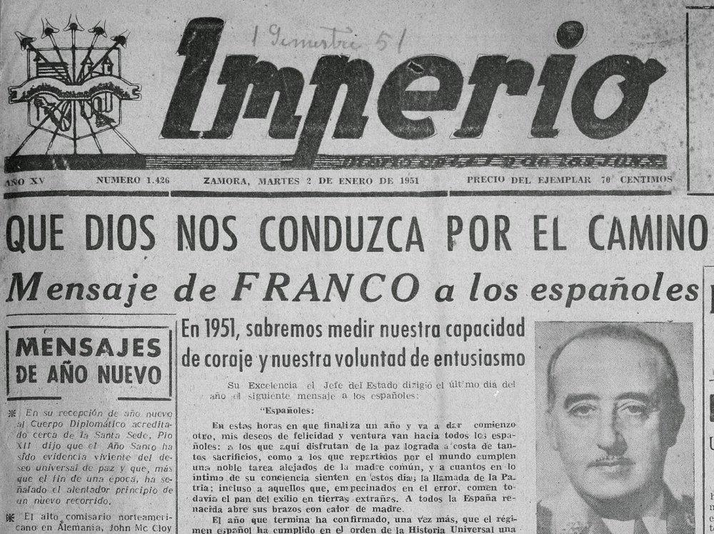 Portada de  Imperio  en 1951