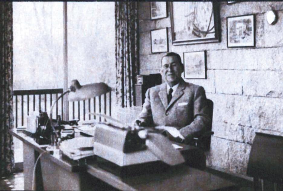 Juan Domingo Perón en su palacete de Puerta de Hierro