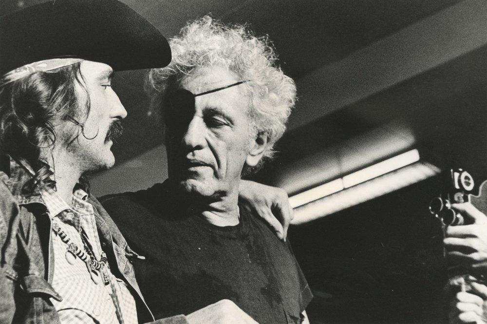 Dennis Hopper y Nicholas Ray en 1971. Fotografía: Mark Goldstein