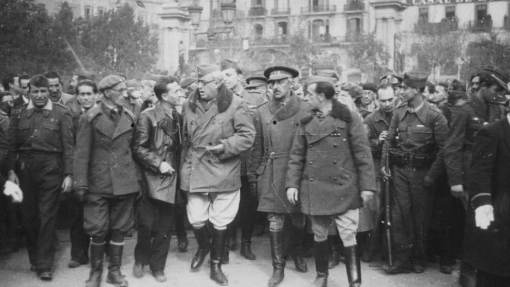 Entrada de las tropas fascistas en Barcelona