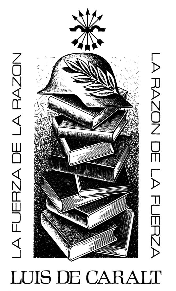Inequívoco exlibris de Luis de Caralt