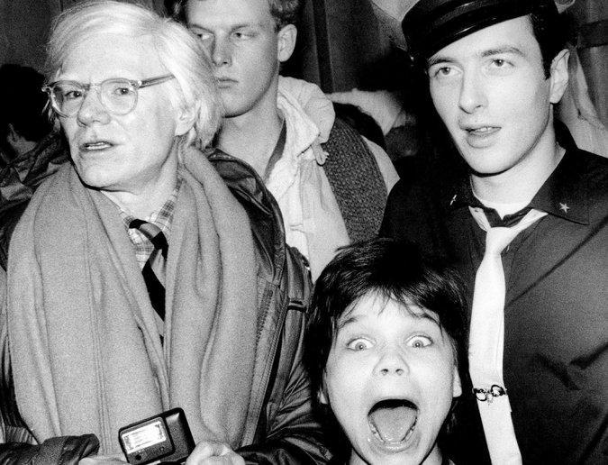 Andy Warhol, Joe Strummer y Flanagan: Fotografía:Marcia Reesnick