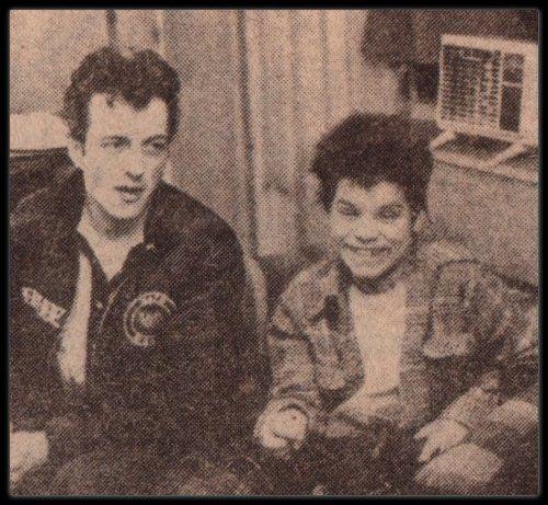 Flanagan y Joe Strummer en el Palladium de Nueva York
