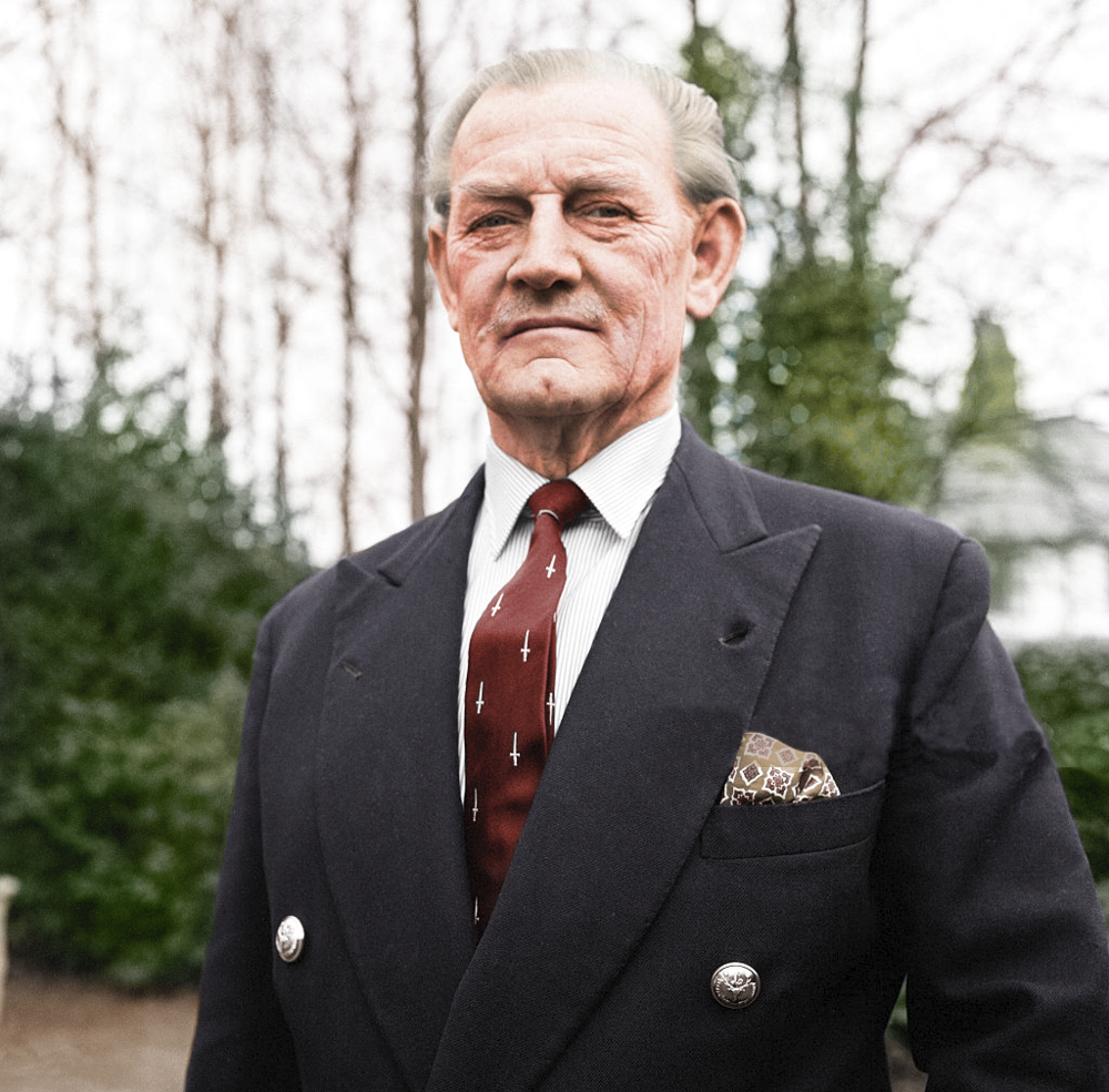 John Malcolm Thorpe Fleming Churchill (Jack «Mad» Churchill) años antes de fallecer