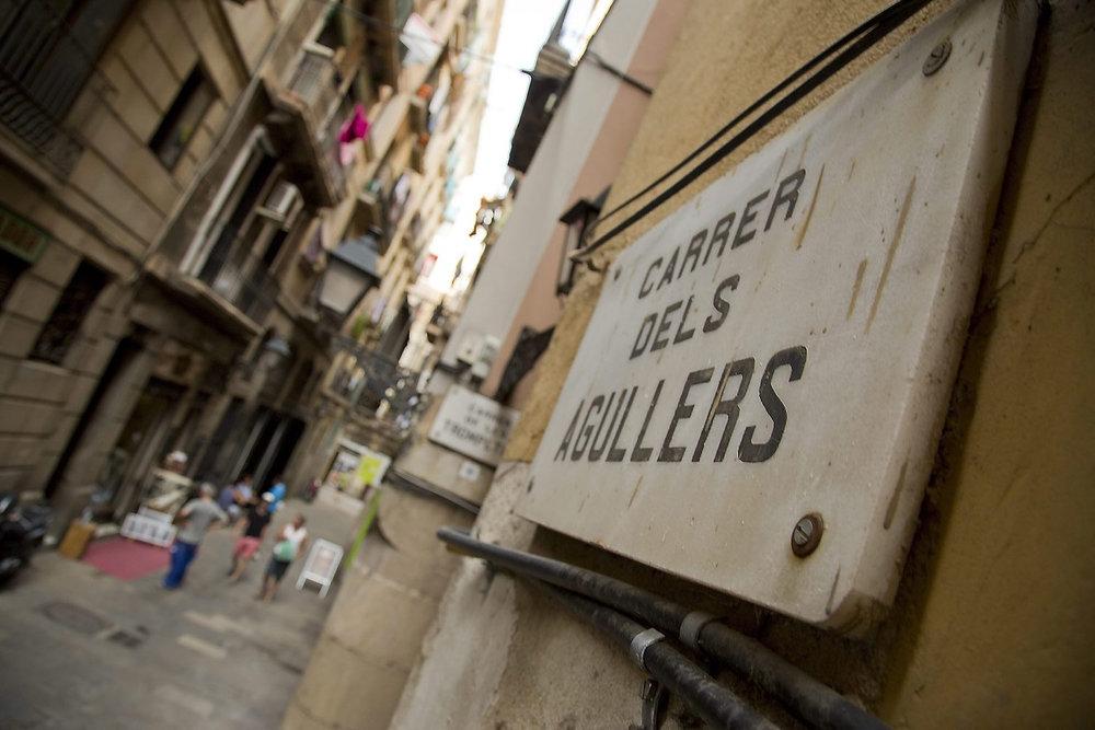 Placa de la calle en que estaba situado el Café Volter. Fotografía: taxi.cnt.cat