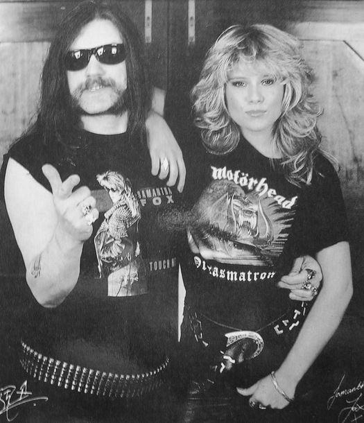 Fotos promocionales de Lemmy y Samantha
