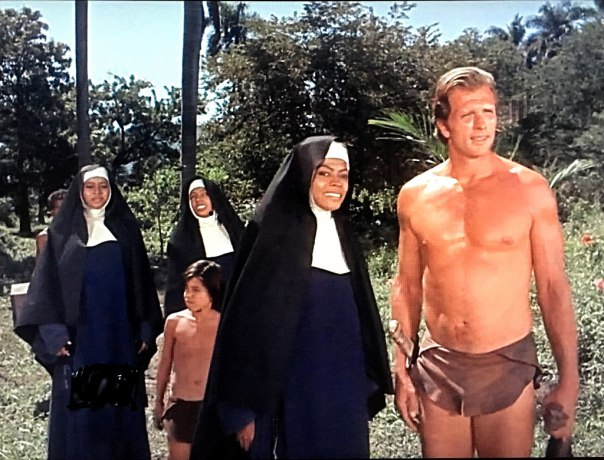 Las tres Supremes junto a Tarzán en la serie  Tarzan  (1968)