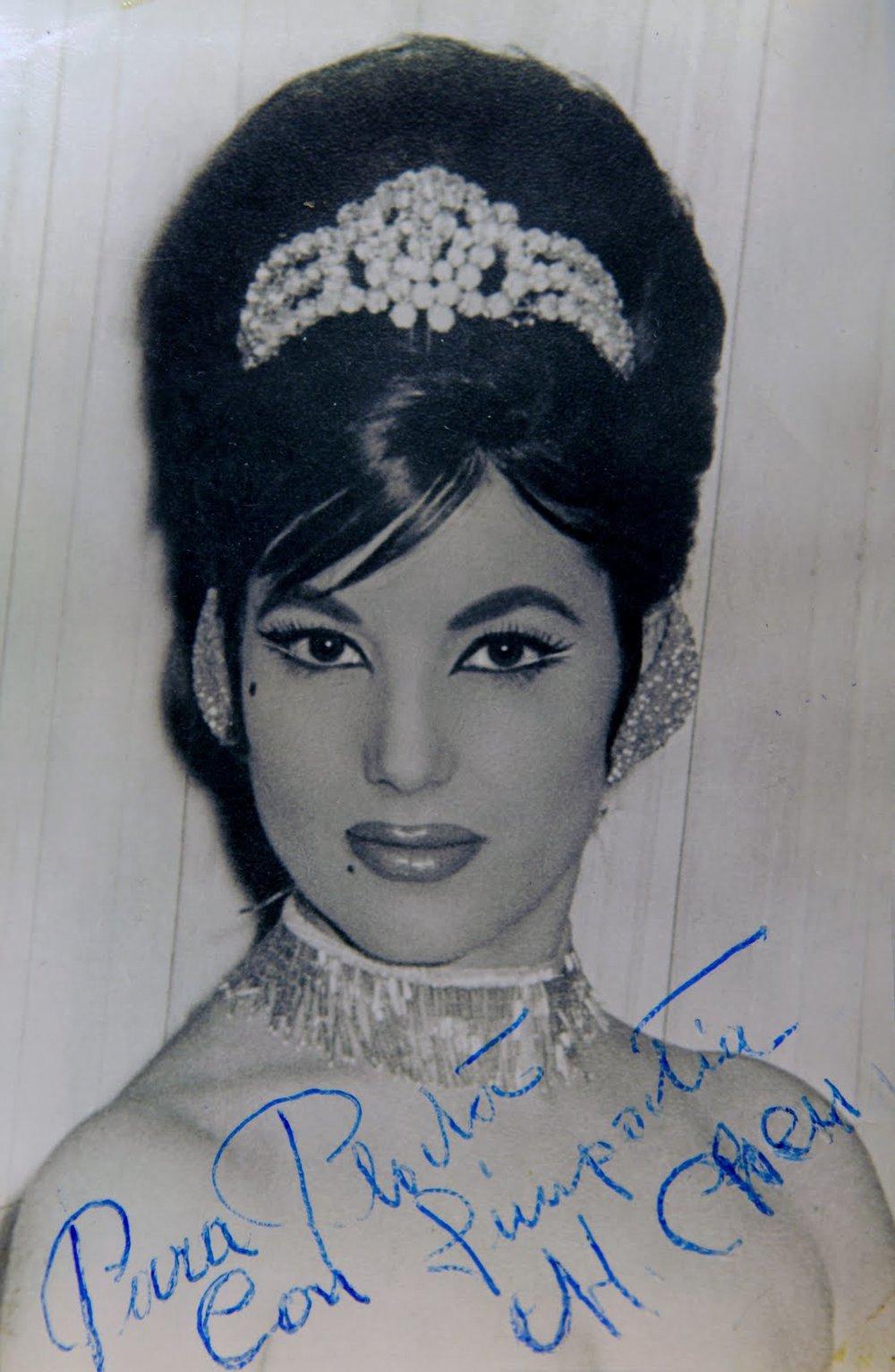 Retrato firmado de Manolita Chen