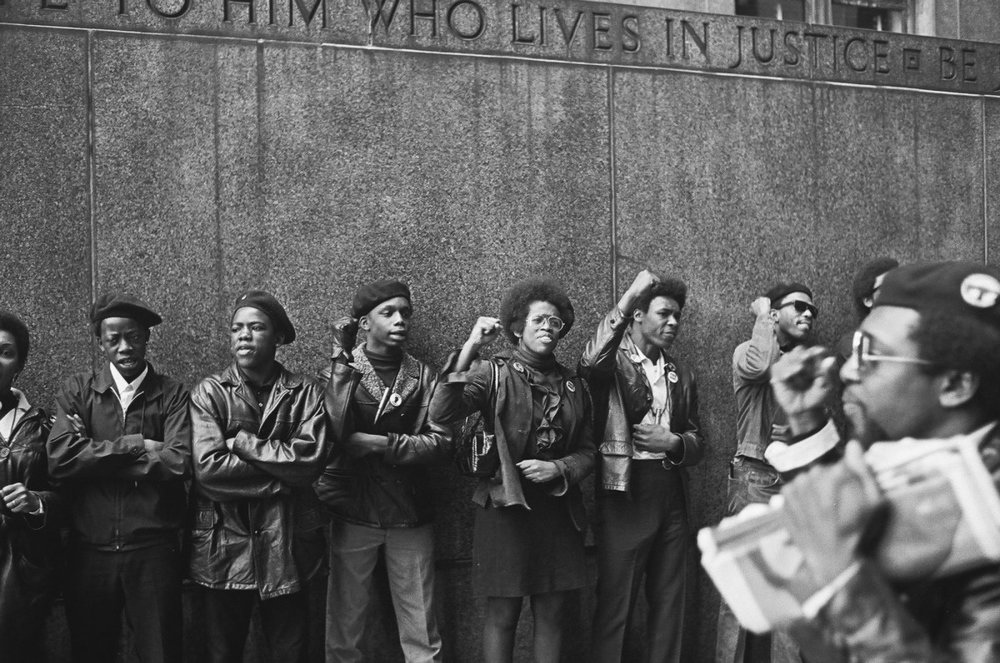 Los Panteras Negras durante una protesta en Nueva York. Fotografía: David Fenton