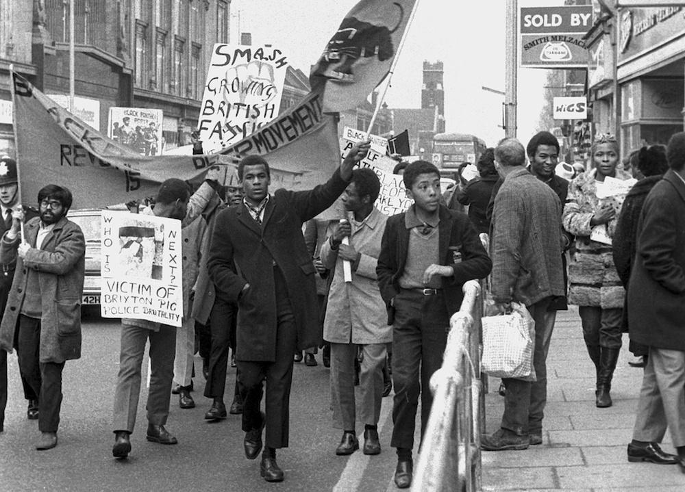 Manifestantes del British Black Panther Party