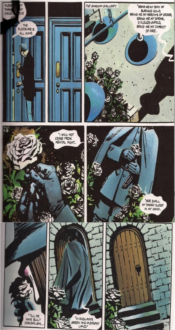 Alan Moore en  V de Vendetta  y el poema  Jerusalén  de William Blake