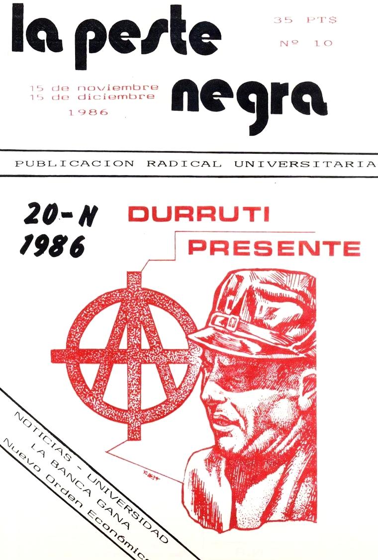 La Peste Negra,  número 10 (15 de noviembre de 1986)