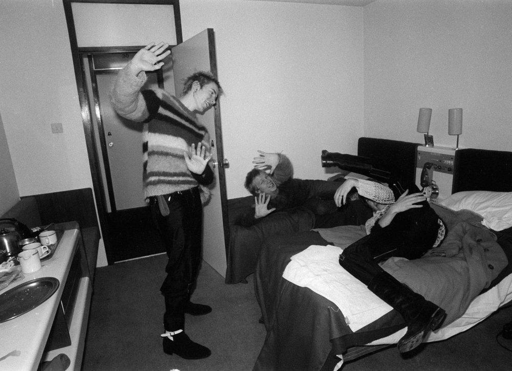 Sex Pistols (Johnny Rotten, Paul Cook y Glen Matlock) Anarchy Tour