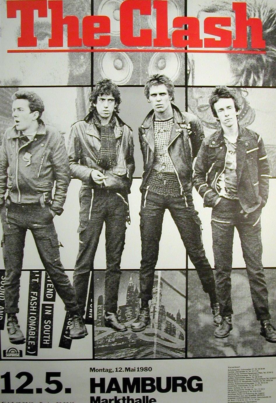 Cartel del show en Hamburgo en la sala Markthalle (12 de mayo de 1980)