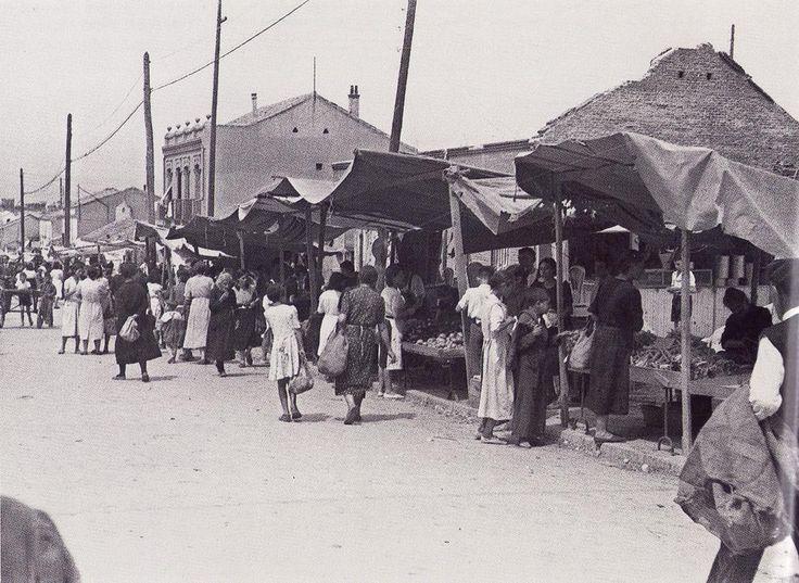 Mercado de Tetuán en 1941. Foto: Vidal