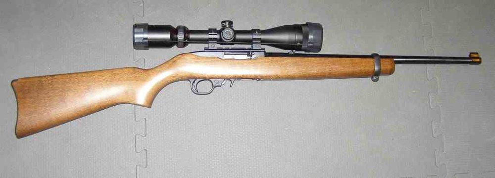 Rifle Ruger 10/22 con mira telescópica idéntico al que empuñó Brenda Ann