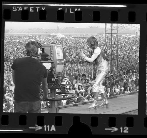 Ozzy en el California Slam (1974). Fotografía: Tony Barnard