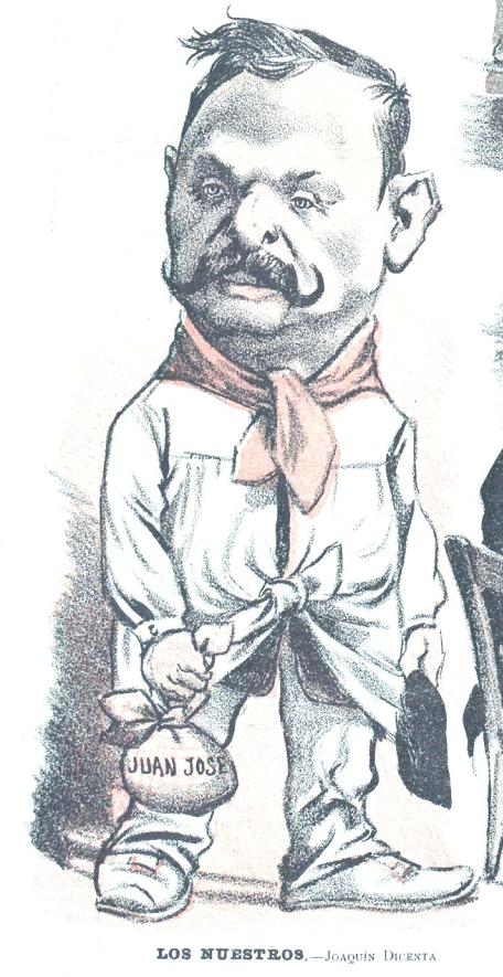 Retrato de Joaquín Dicenta en  Don Quijote  (17 de octubre de 1902)